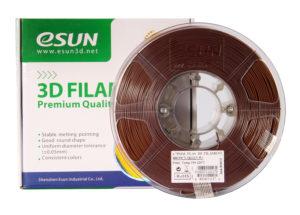 Filaments esun 3D PLA+ de qualité et résistant marron