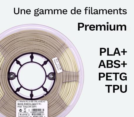 Filaments PLA+ PETG ABS TPU pour Imprimante 3D Raise